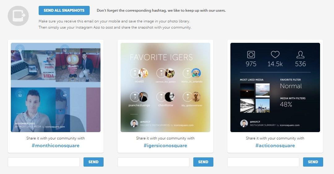 Haz tu resumen del año 2015 en Instagram