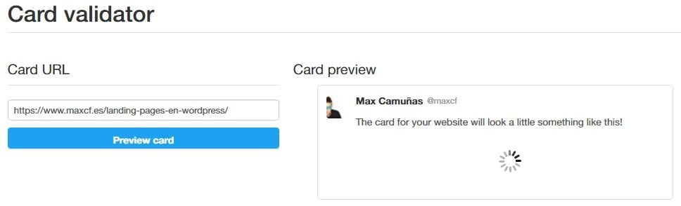 Card Validator: cómo validar Twitter Cards
