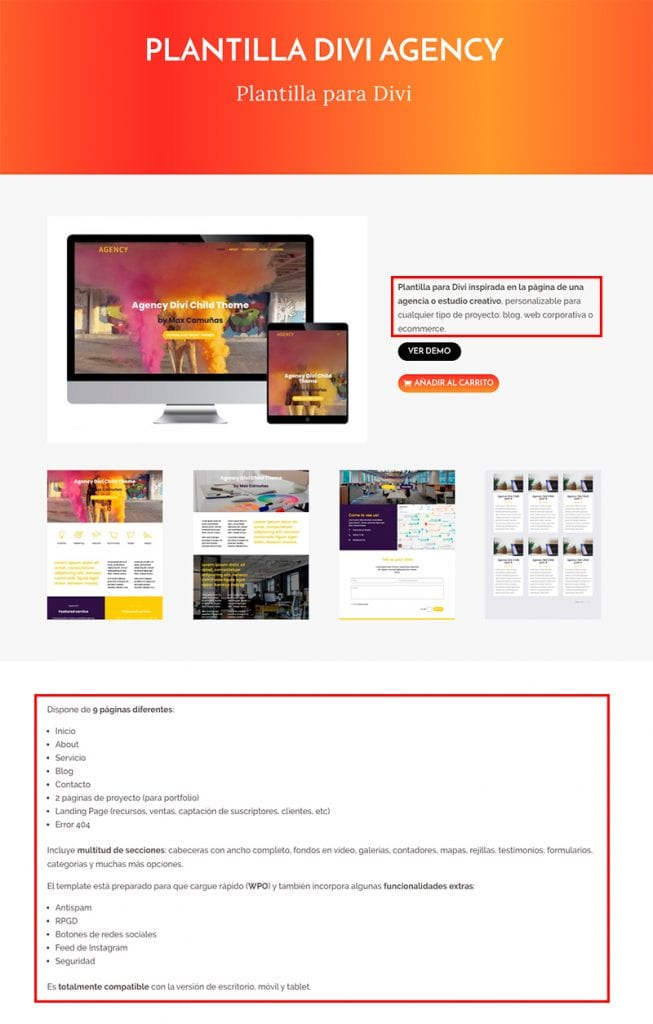 Crear una tienda online en WordPress: descripción del producto en WooCommerce