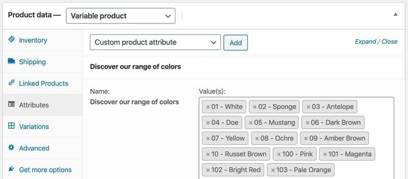 Crear una tienda online en WordPress: producto variable (atributos)