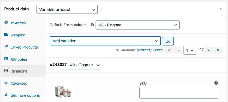 Crear una tienda online en WordPress: producto variable (variaciones)