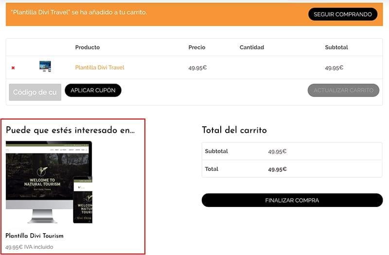 Crear una tienda online en WordPress: ventas cruzadas WooCommerce