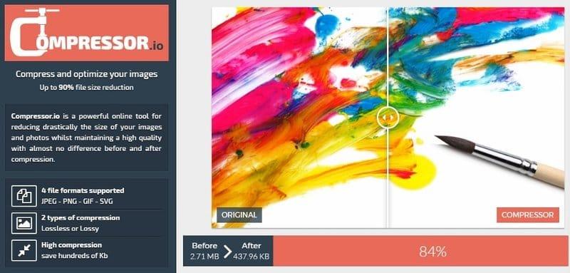 Comprimir imágenes en WordPress