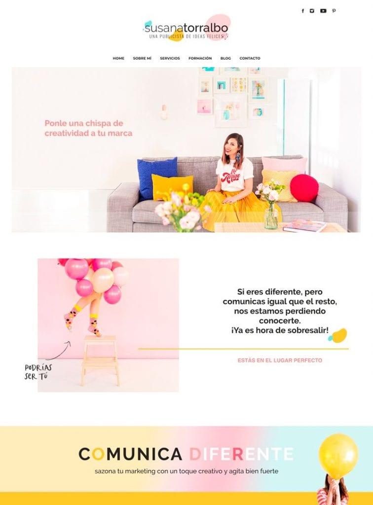 Consejos para diseñar páginas web creativas: Susana Torralbo