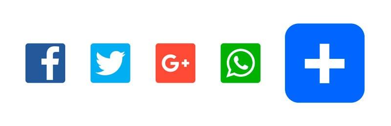 Plugins para insertar botones sociales en WordPress