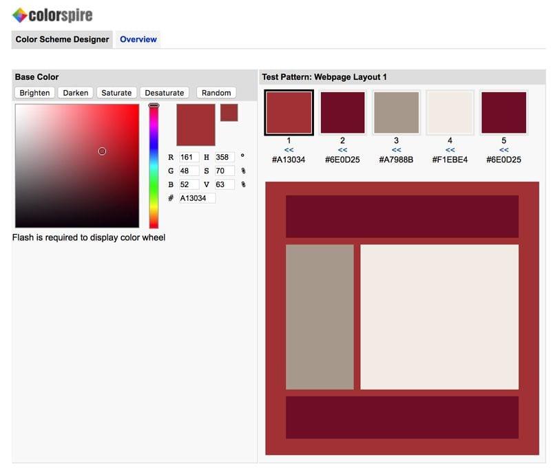 paletas de colores: Color Spire