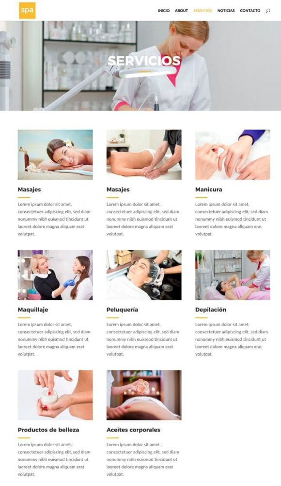 Ideas y ejemplos para maquetar y diseñar páginas en WordPress