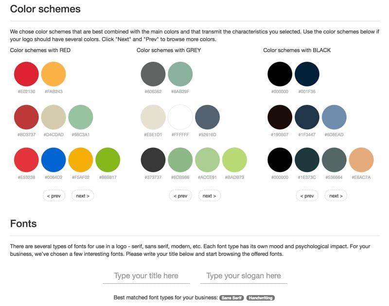 paletas de colores: Logomak
