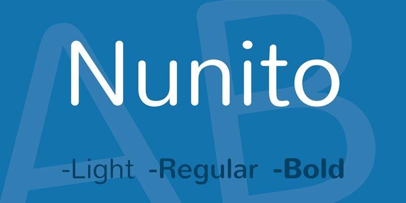 Tipografías para web: Nunito