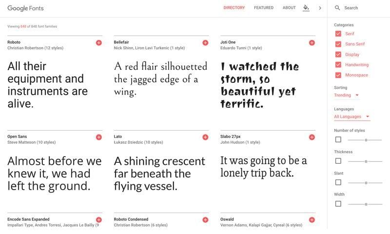 Tipografías para web: Google Fonts