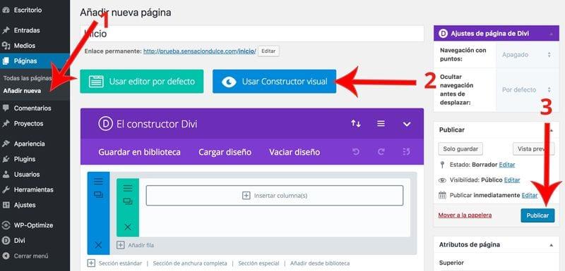 Cómo crear una pagina web con Divi desde cero