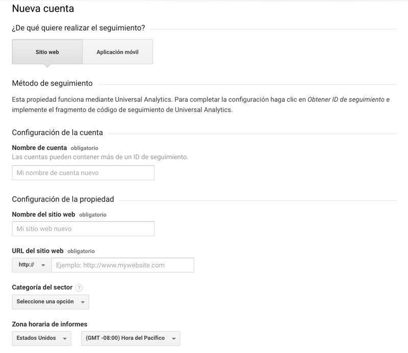 configurar Google Analytics en una web