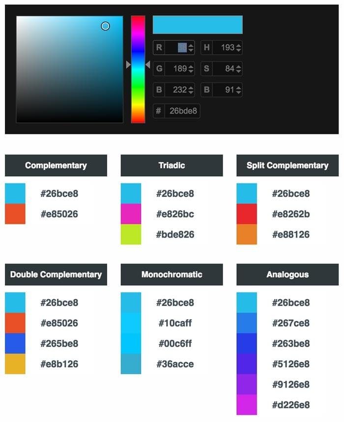 paletas de colores: Online Color Scheme Generator