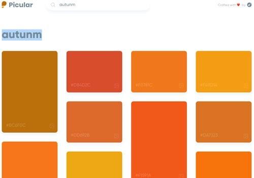 paletas de colores: Picular