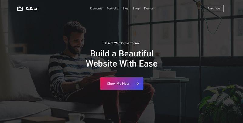 Las mejores plantillas WordPress premium: Salient