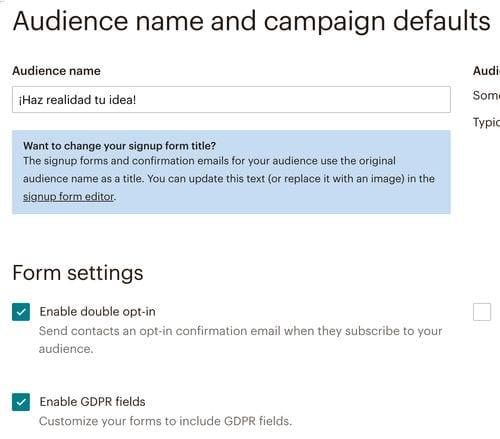 Cómo adaptar al RGPD tus formularios de suscripción con Mailchimp
