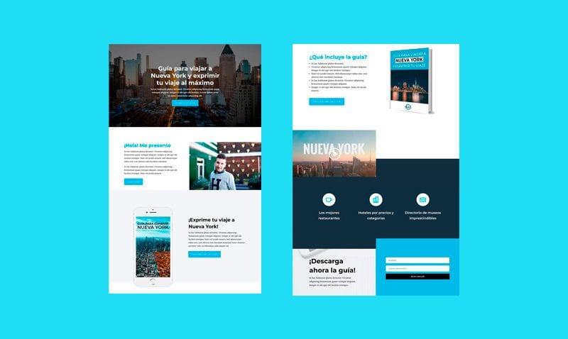 Cómo diseñar una Landing Page con Divi para conseguir suscriptores