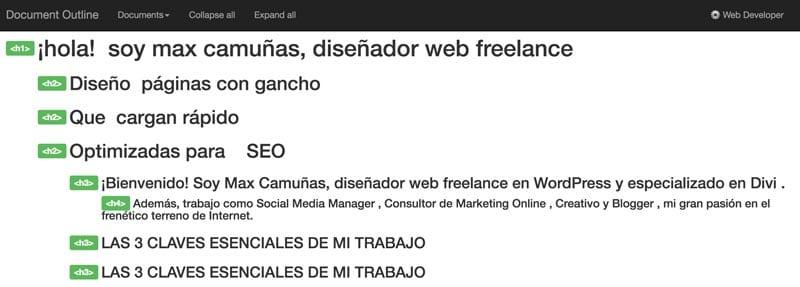 extensiones para Chrome: Web Developer