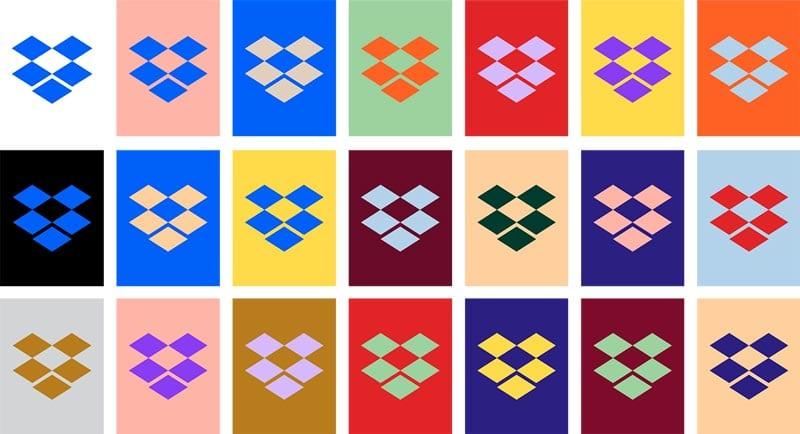 consejos para diseñar logotipos: dropbox