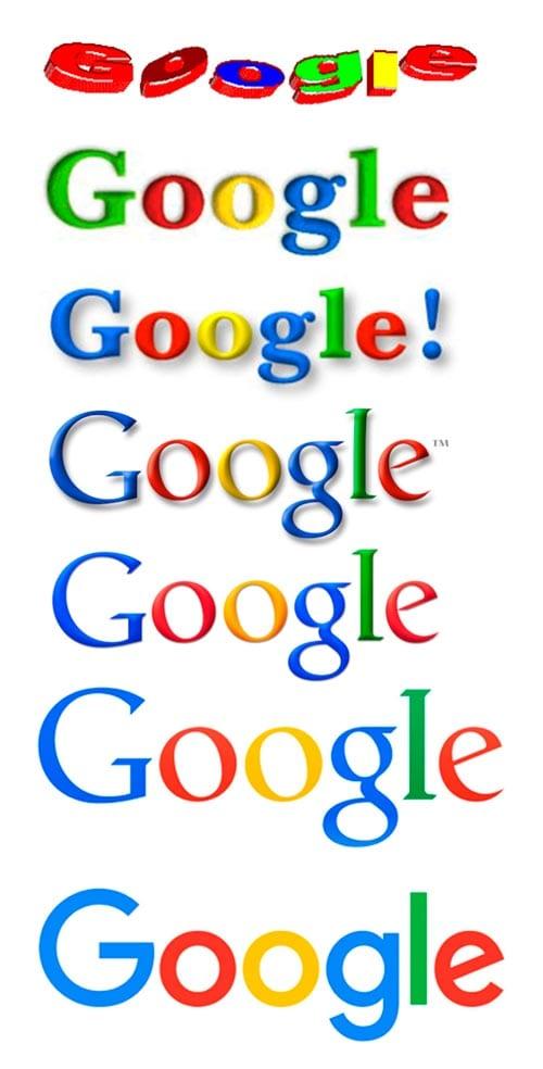 consejos para diseñar logos: evolución logo Google