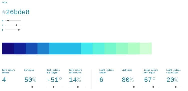 paletas de colores: Scale