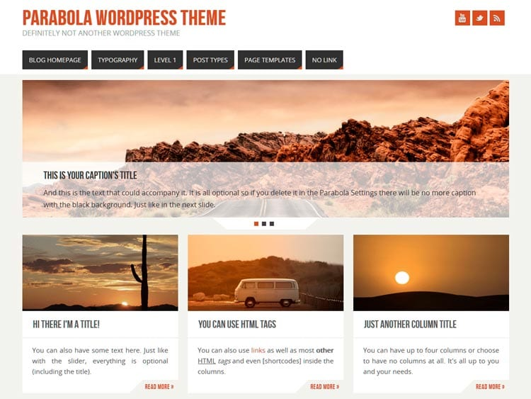 Plantillas WordPress gratis: Parabola