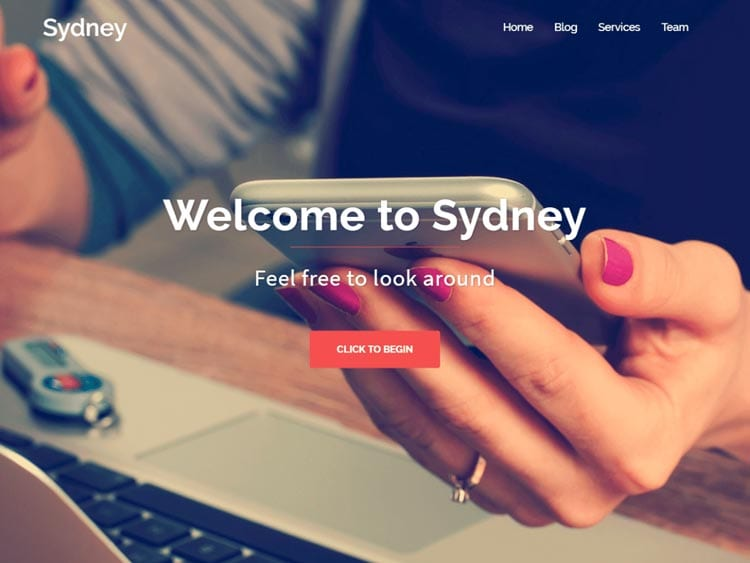 Plantillas WordPress gratis: Sydney