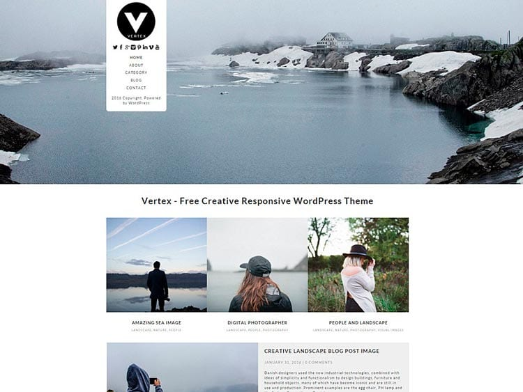 Plantillas WordPress gratis: Vertex