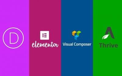 Maquetadores visuales para WordPress: Divi, Elementor, Visual Composer y Thrive Architect (análisis y comparativa)