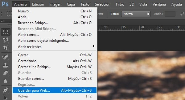 optimizar imágenes en WordPress con Photoshop