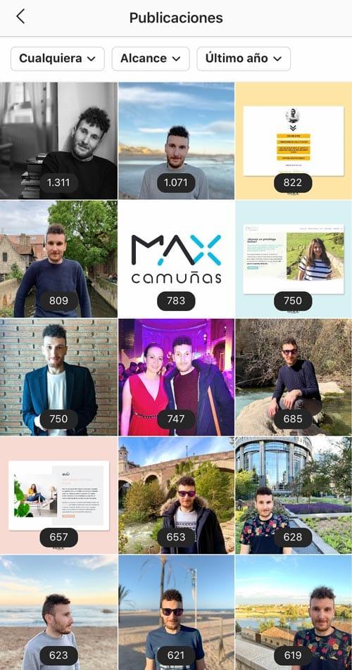 Estadísticas Instagram: publicaciones