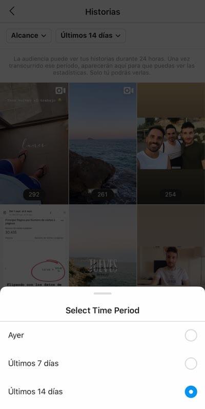 Estadísticas Instagram: Stories / Historias