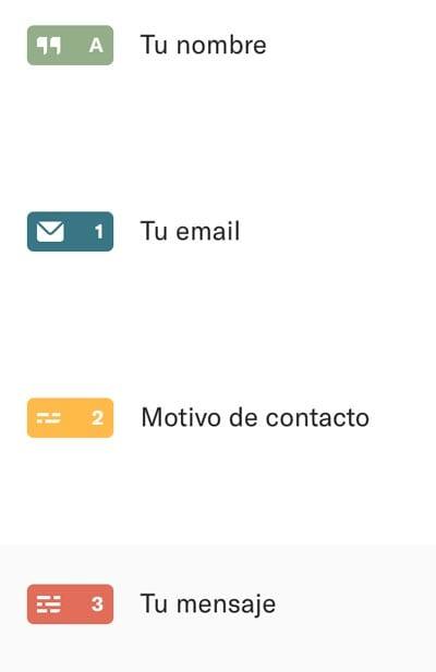 8 herramientas y plugins para crear formularios de contacto en WordPress: Typeform