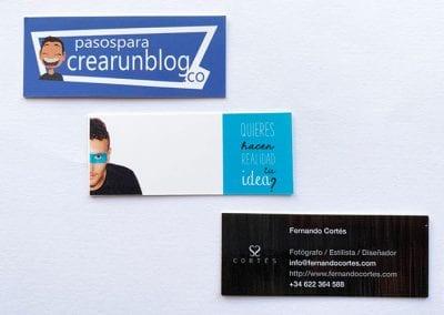 5 usos que puedes darle a tu imagen corporativa: tarjetas de visita