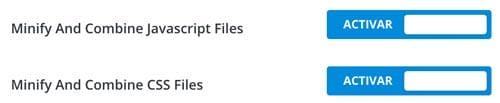 Minificar y combinar archivo CSS y Javascript en Divi