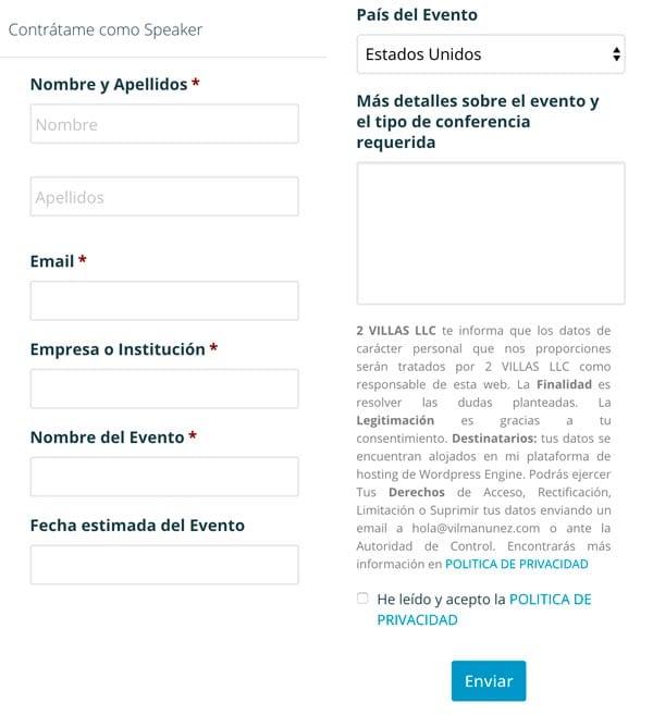 Ejemplos para crear un formulario de solicitud de presupuesto