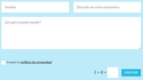 Funcionalidades del módulo formulario de contacto de Divi