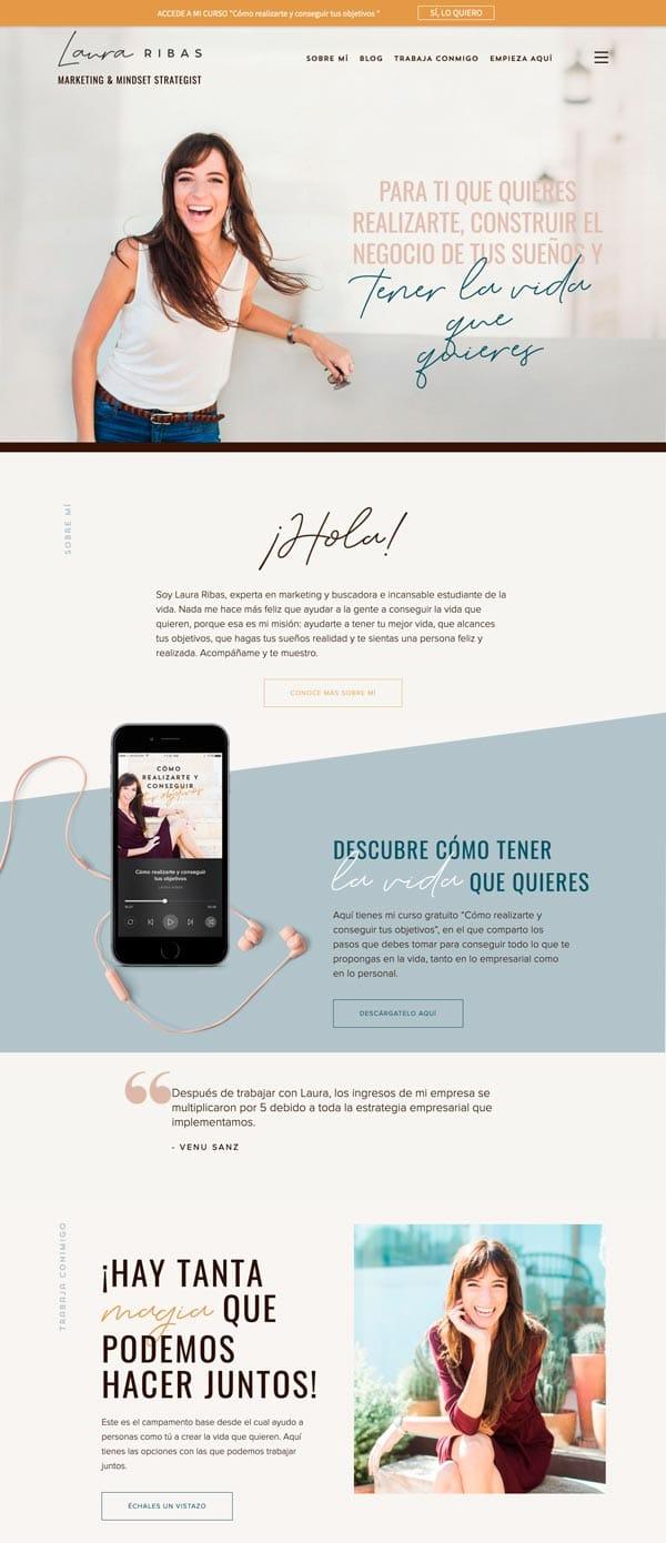diseñar páginas web creativas: Laura Ribas