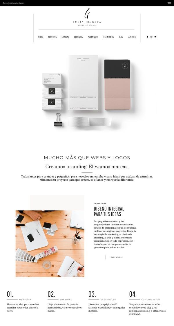 diseñar páginas web creativas: Lucía Irureta