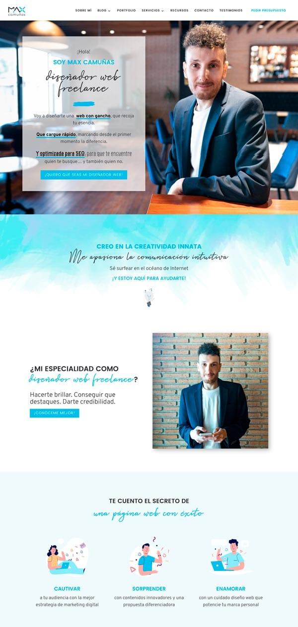 diseñar páginas web creativas: Max Camuñas