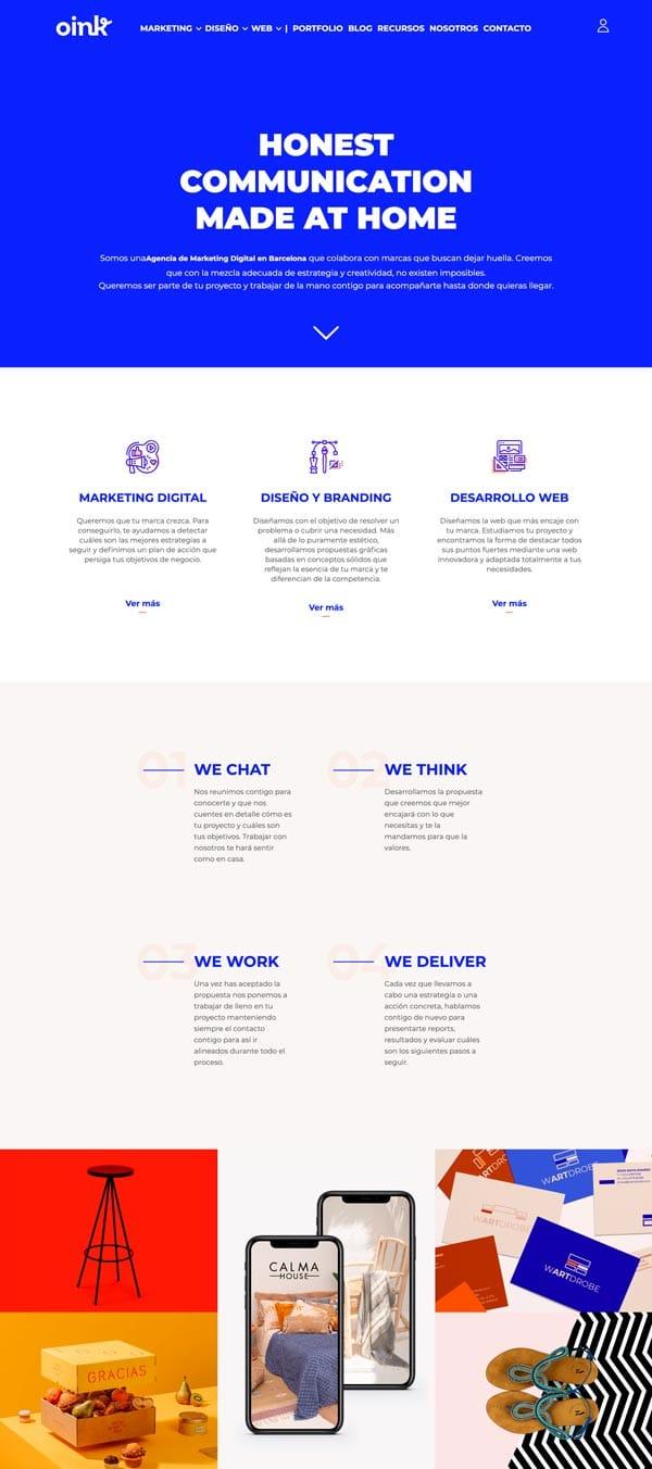diseñar páginas web creativas: Oink my God