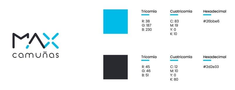 diseñar páginas web creativas: paleta de colores