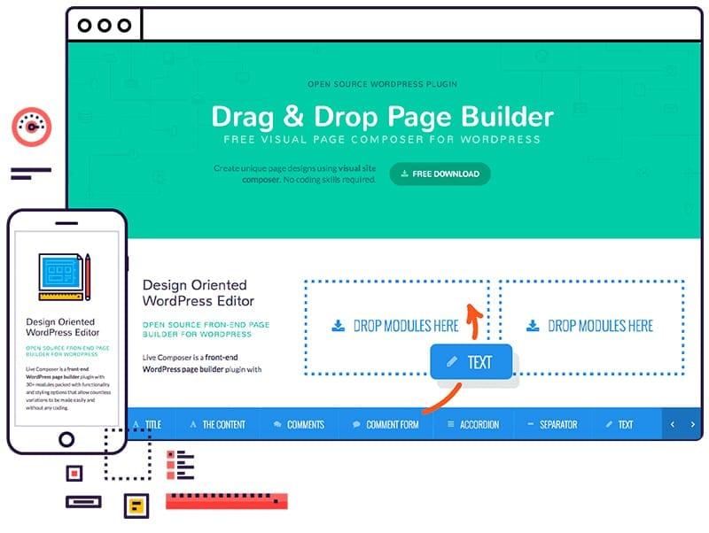 Plugins para diseñar y maquetar páginas en WordPress: Live Composer