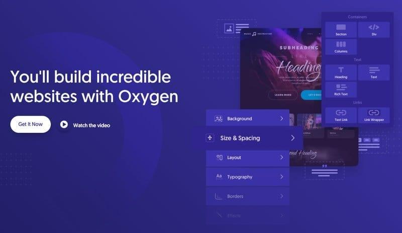 Plugins para diseñar y maquetar páginas en WordPress: Oxygen Builder
