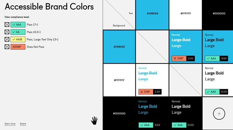 paletas de colores: Accessible Brand Colors