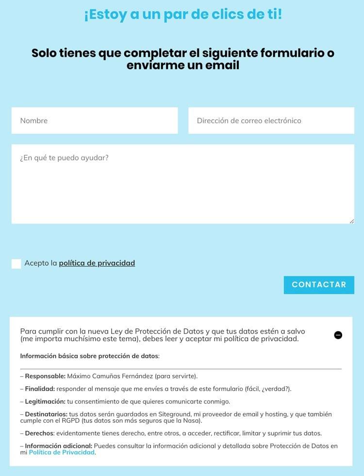 Web legal: cómo adaptar tu página a la Ley de Protección de Datos y el RGPD