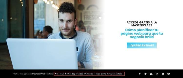 Web legal: Actualiza tus textos legales al RGPD