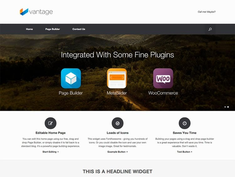 Plantillas WordPress gratis: Vantage