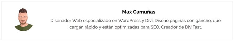 Plugins para WordPress: caja de autor
