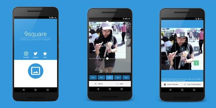 aplicaciones para Instagram: 9 square for Instagram (Grids para Instagram)